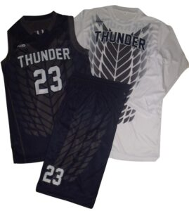 FULL REVERSIBLE BASKETBALL UNIFORM & SHOOTING SHIRT SET